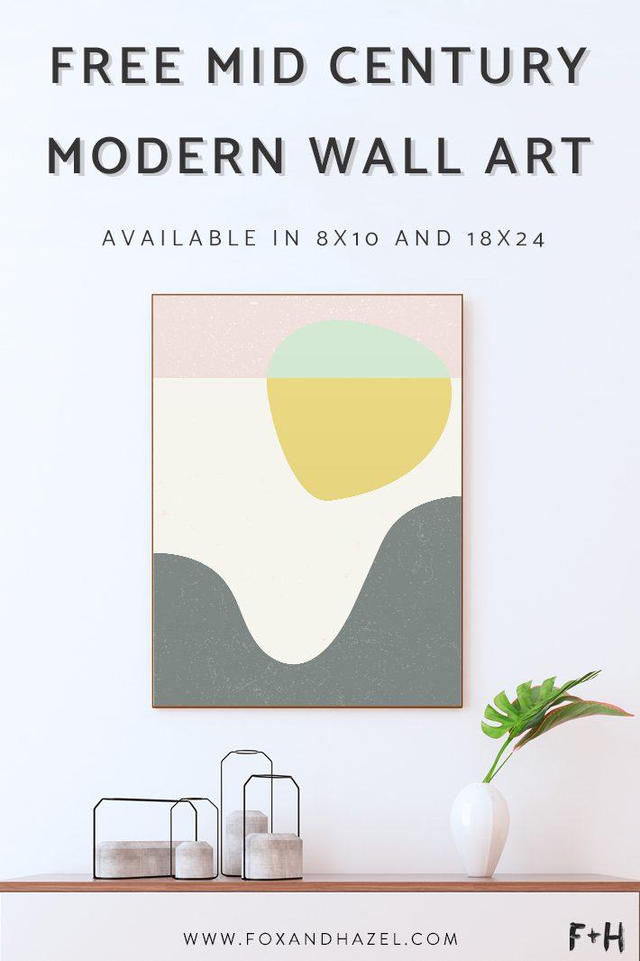 Free Mid Century Modern Wall Art Poster Fox Hazel