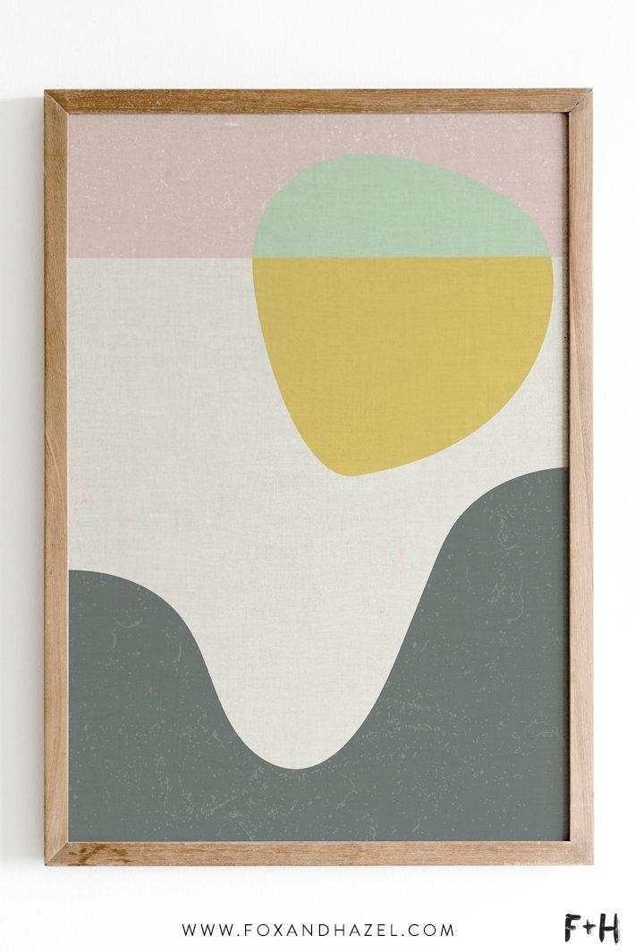 Image of: Free Mid Century Modern Wall Art Poster Fox Hazel