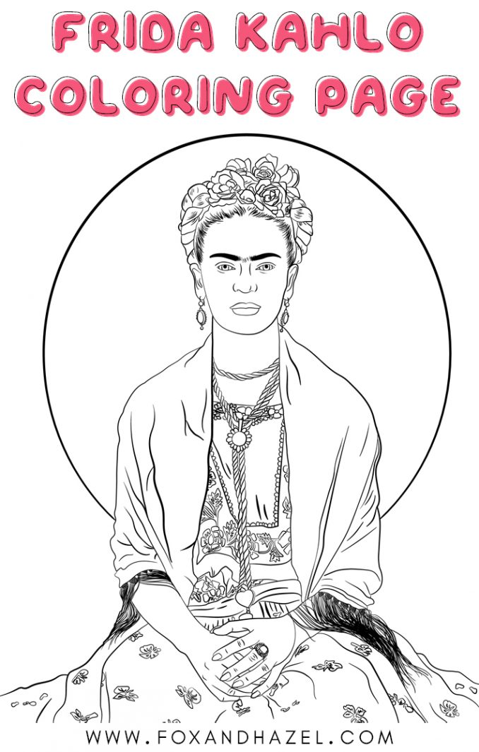 frida kahlo printable