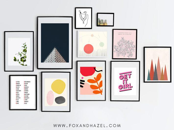 minimalist art print gallery