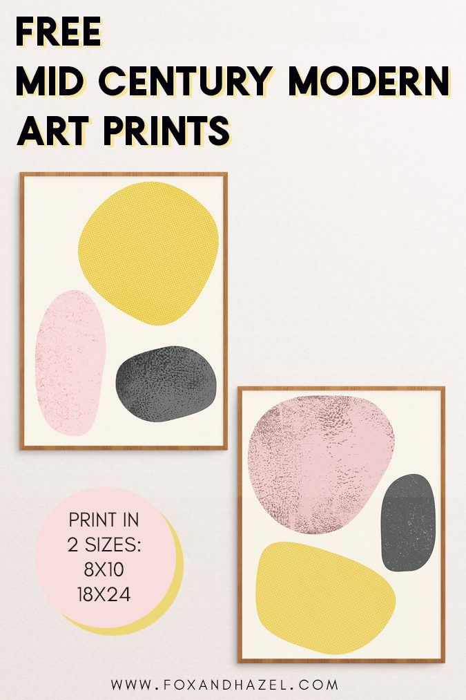 mid century modern art print posters