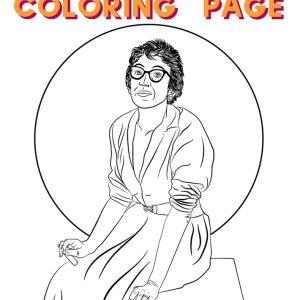 coloring page of lee krasner