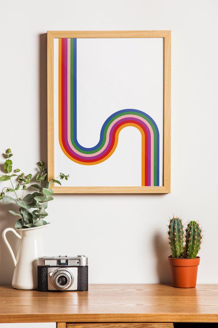 free retro wall art printable